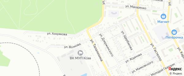 Улица Волкова на карте Копейска с номерами домов