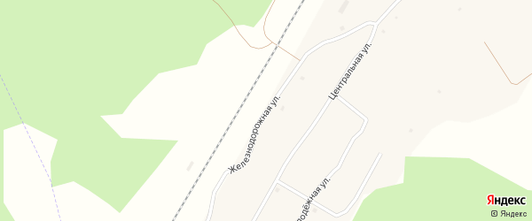 Железнодорожная улица на карте железнодорожной станции Муслюмово с номерами домов