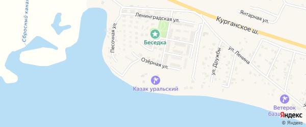 Озерная улица на карте Петровского поселка с номерами домов