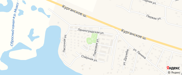Таганайская улица на карте Петровского поселка с номерами домов
