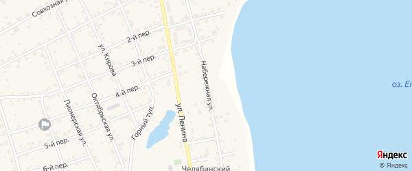 Набережная улица на карте села Еткуль с номерами домов