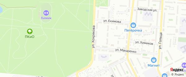 Улица Хохрякова на карте Копейска с номерами домов