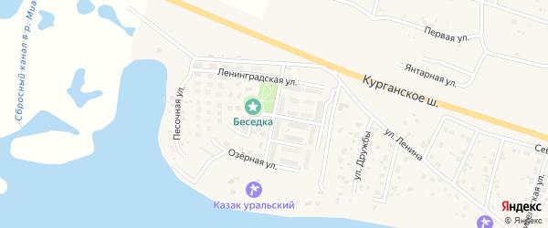 Парковая улица на карте Петровского поселка с номерами домов