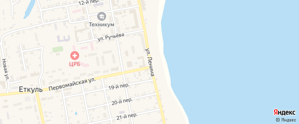 Улица Ленина на карте села Еткуль с номерами домов