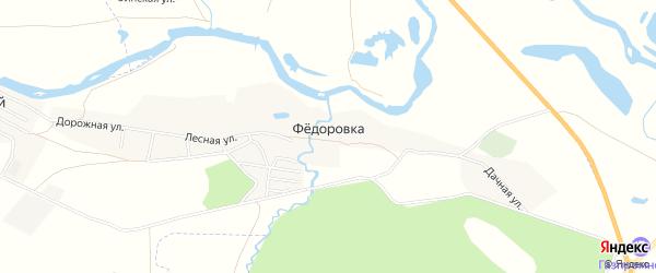 Карта деревни Федоровки в Челябинской области с улицами и номерами домов