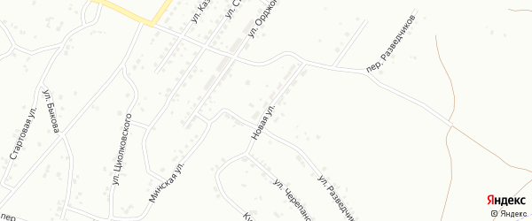 Улица Новая (бывший РП Бажово) на карте Копейска с номерами домов