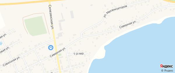 Северная улица на карте села Еткуль с номерами домов