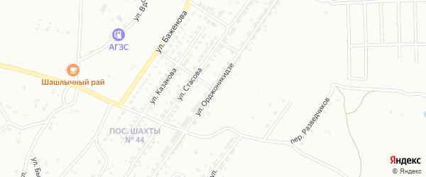 Улица Орджоникидзе на карте Копейска с номерами домов