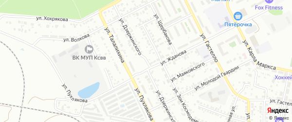 Улица Дзержинского на карте Копейска с номерами домов