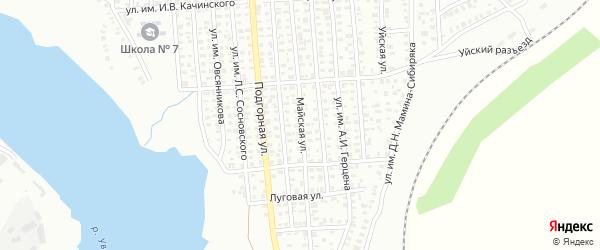 Майская улица на карте Троицка с номерами домов