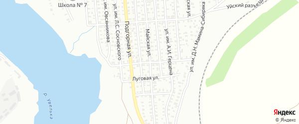 Улица им Спартака на карте Троицка с номерами домов