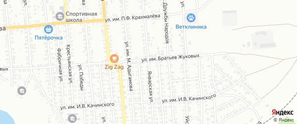 Январская улица на карте Троицка с номерами домов