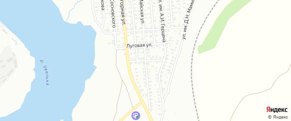 Республиканская улица на карте Троицка с номерами домов