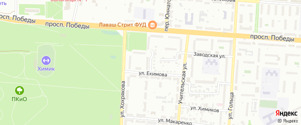 Улица Отдыха на карте Копейска с номерами домов