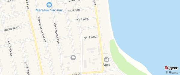 31-й переулок на карте села Еткуль с номерами домов