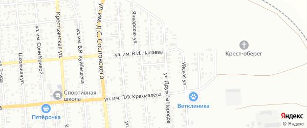 Станичный переулок на карте Троицка с номерами домов