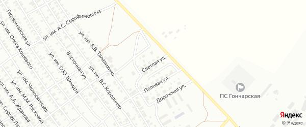 Светлая улица на карте Троицка с номерами домов