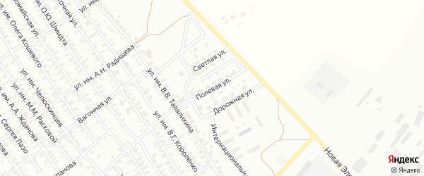Полевая улица на карте Троицка с номерами домов