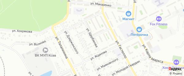 Улица Щербакова на карте Копейска с номерами домов