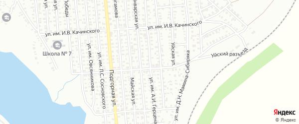 Улица им А.И.Герцена на карте Троицка с номерами домов