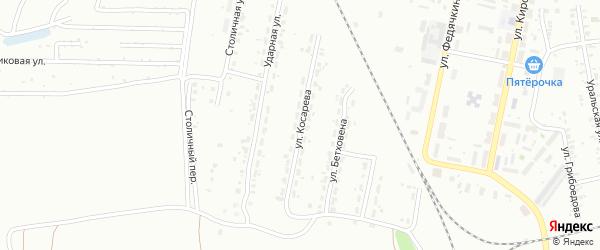 Улица Косарева на карте Копейска с номерами домов