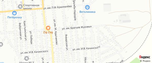 Улица Дружбы Народов на карте Троицка с номерами домов