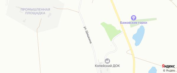 Улица Шишкина на карте Копейска с номерами домов