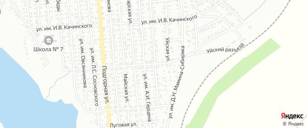 Улица им Я.М.Свердлова на карте Троицка с номерами домов