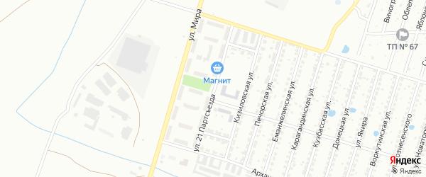 Улица 21 Партсъезда на карте Копейска с номерами домов