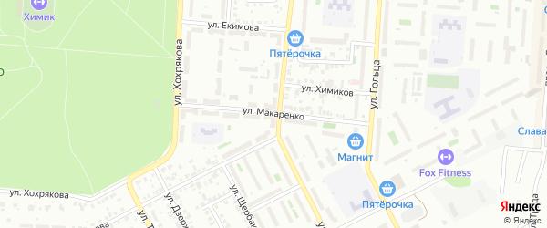 Улица Макаренко на карте Копейска с номерами домов