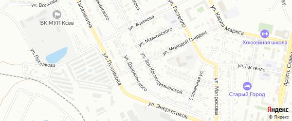 Улица Зои Космодемьянской на карте Копейска с номерами домов