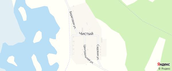Центральная улица на карте Чистого поселка с номерами домов