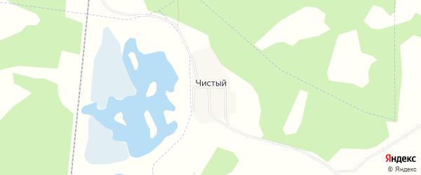 Карта Чистого поселка в Челябинской области с улицами и номерами домов