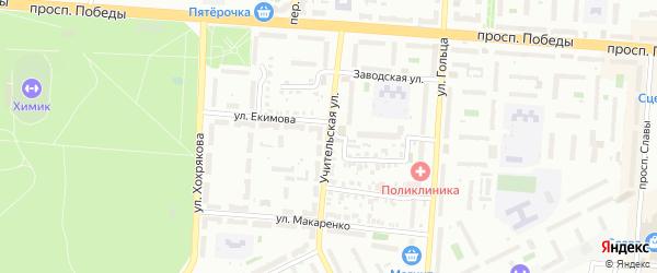 Учительская улица на карте Копейска с номерами домов