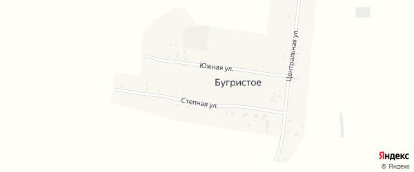 Центральная улица на карте поселка Бугристого с номерами домов