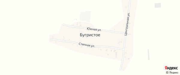 Южный переулок на карте поселка Бугристого с номерами домов