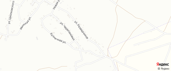 Улица Разведчиков на карте Копейска с номерами домов