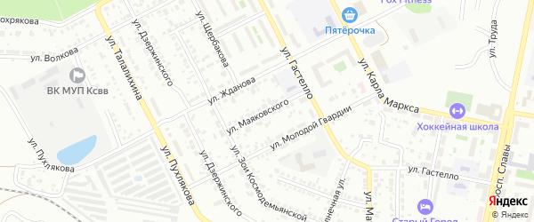 Улица Маяковского на карте Копейска с номерами домов