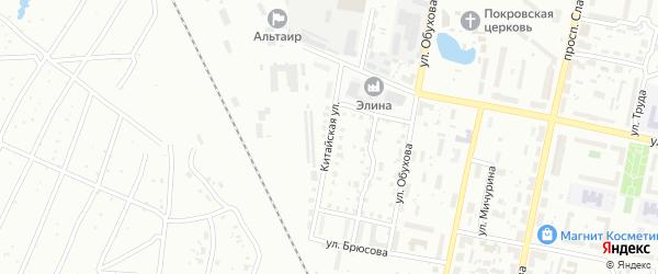 Китайская улица на карте Копейска с номерами домов