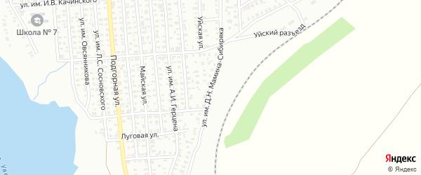 Улица им Д.Н.Мамина-Сибиряка на карте Троицка с номерами домов