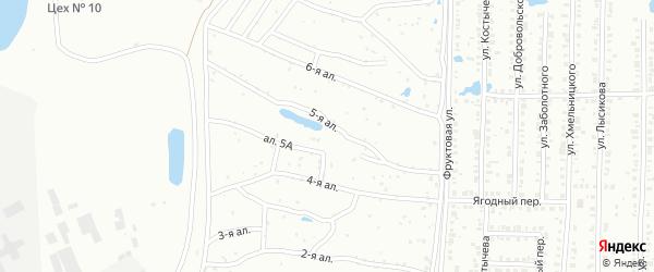 1-й участок на карте гаражно-строительного кооператива N5 с номерами домов
