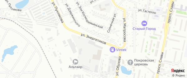 Улица Энергетиков на карте Копейска с номерами домов