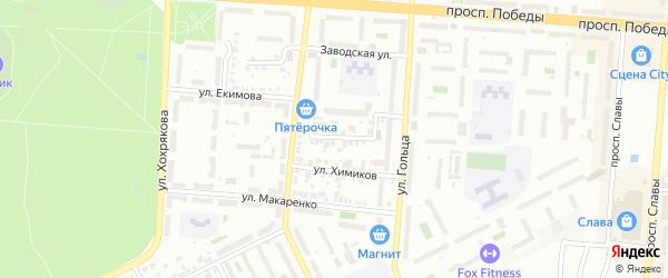 Улица Розы Люксембург на карте Копейска с номерами домов