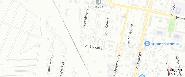 Улица Брюсова на карте Копейска с номерами домов