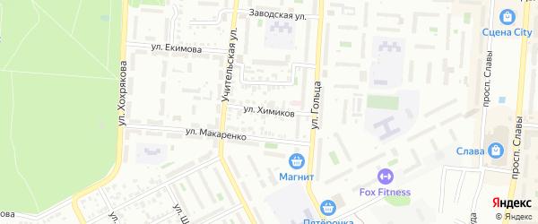 Улица Химиков на карте Копейска с номерами домов