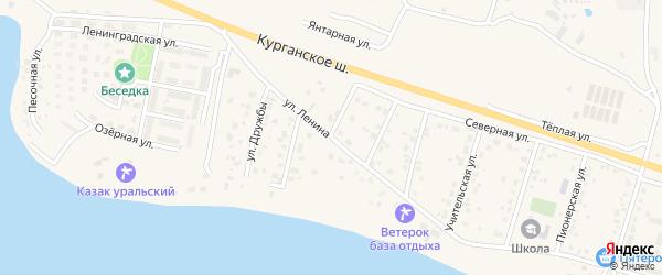 Улица Дружбы на карте Петровского поселка с номерами домов