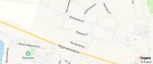 Первая улица на карте Петровского поселка с номерами домов
