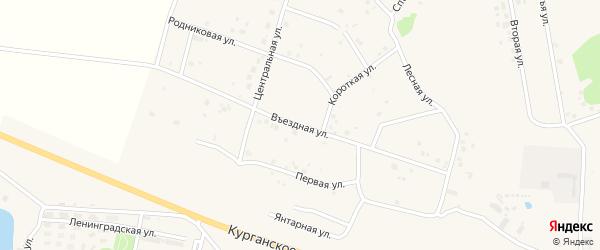Въездная улица на карте Петровского поселка с номерами домов