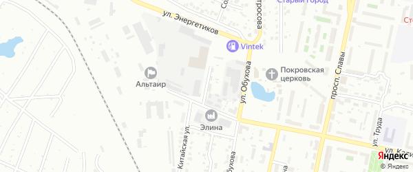 Переулок Калинина на карте Копейска с номерами домов