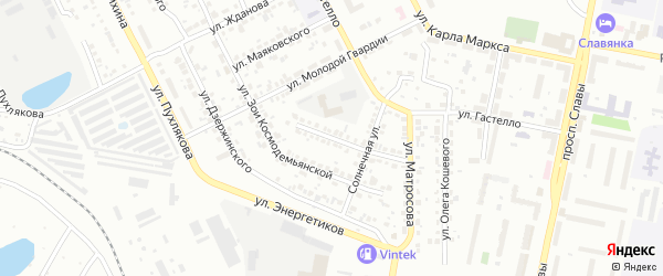 Улица Сергея Лазо на карте Копейска с номерами домов